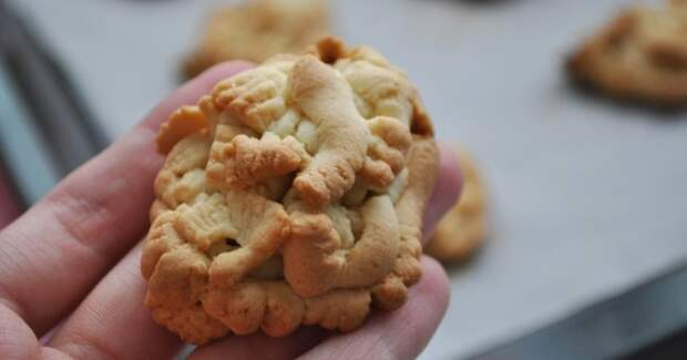 Печенье на жиру через мясорубку