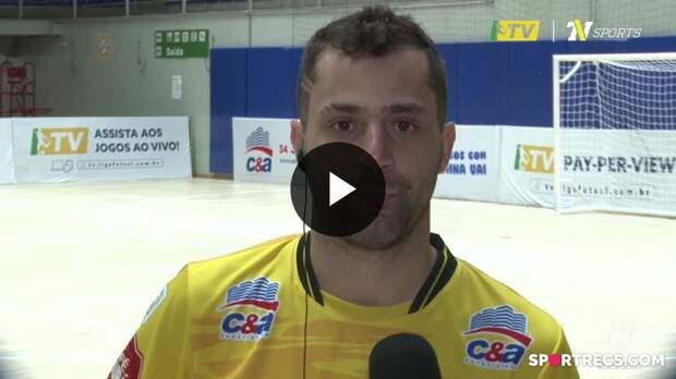 Thiaguinho fala sobre golaço e estreia do Praia Clube com vitória na LNF 2021 (13/05/2021)