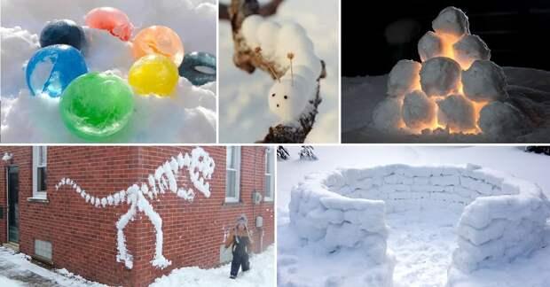 Не бабой единой: 7 вариантов поделок из снега (лепим с детьми)