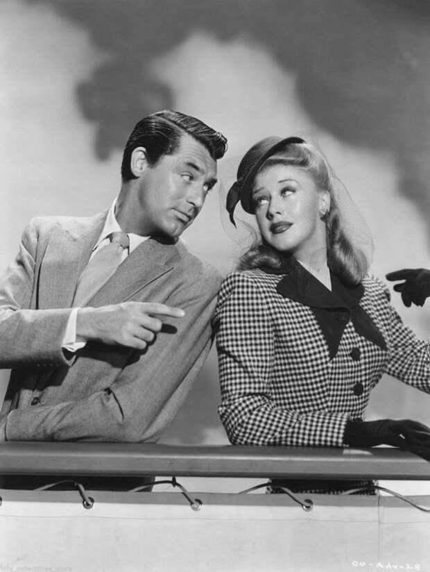 """Кэри Грант и Джинджер Роджерс в фильме """"Однажды в медовый месяц"""" (1942)."""