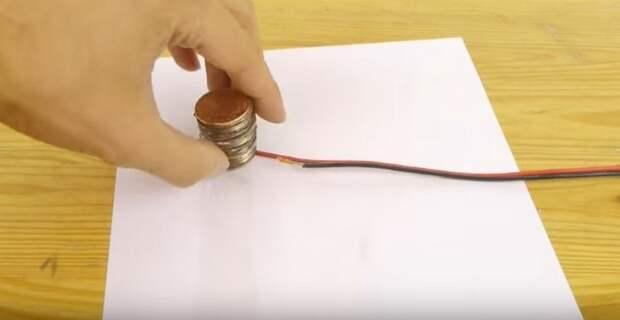 Как сделать батарейку из медных монет