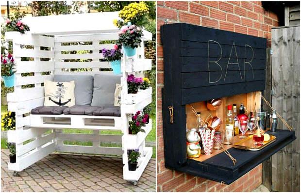 Практичные примеры мебели из паллет, которые можно реализовать этой весной.