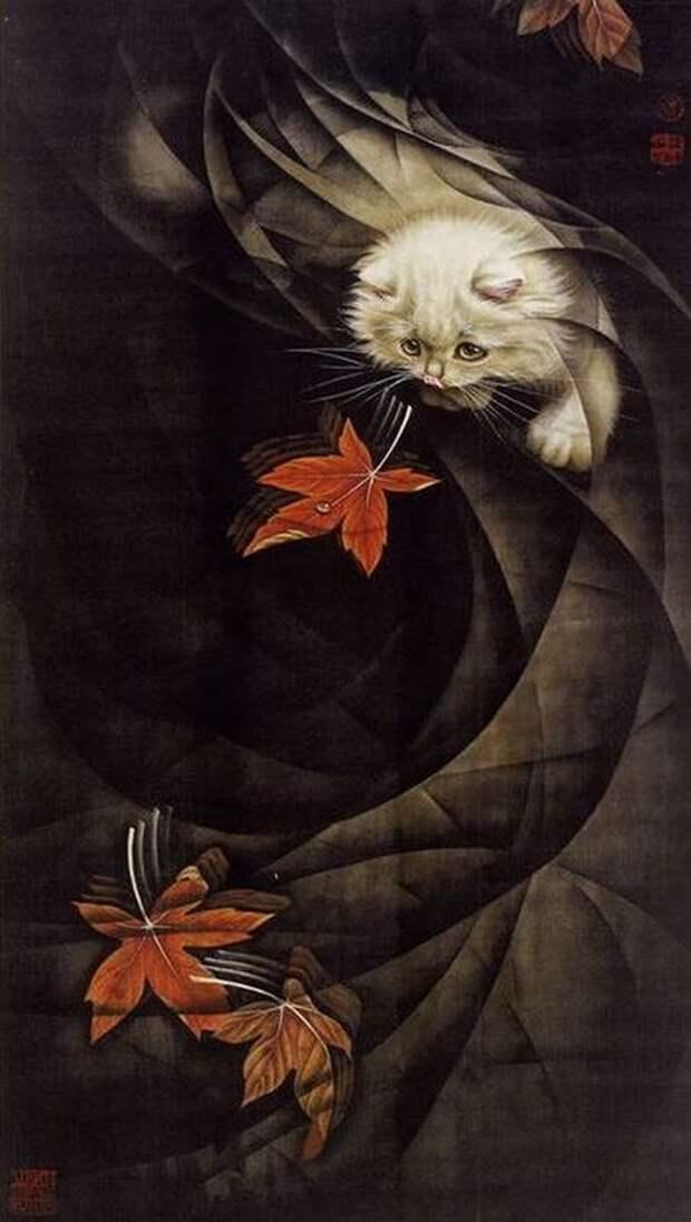 Кошки художника Сюй Синьци