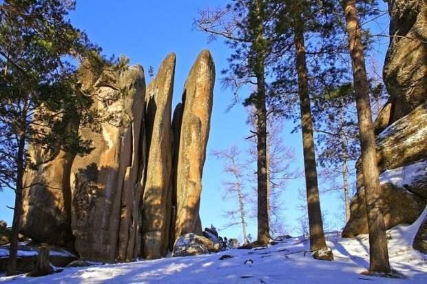 Каменные столбы Красноярского заповедника природа, россия, столбы, феномен