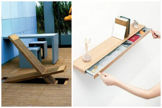 Скамейки и полки важное, дизайн, полезное, экономия