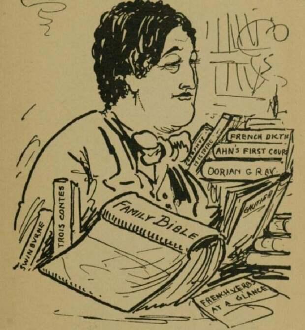 Обри Бёрдслей: Оскар Уайльд за работой, 1893 год. \ Фото: livrenblog.blogspot.com.