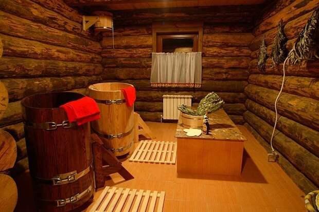 7. Удивительно, но эта баня сделана прямо в гараже баня, березовый веник, необычные бани, сауна, фото
