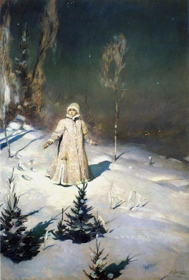 Новогодняя подборка русской живописи.
