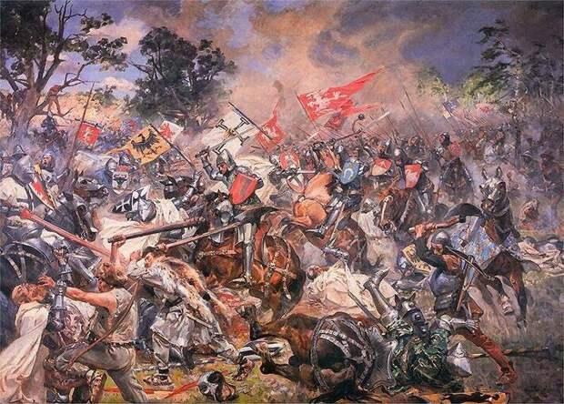Грюнвальдская битва 1410 г. Картина Ян.Матейко (1878).