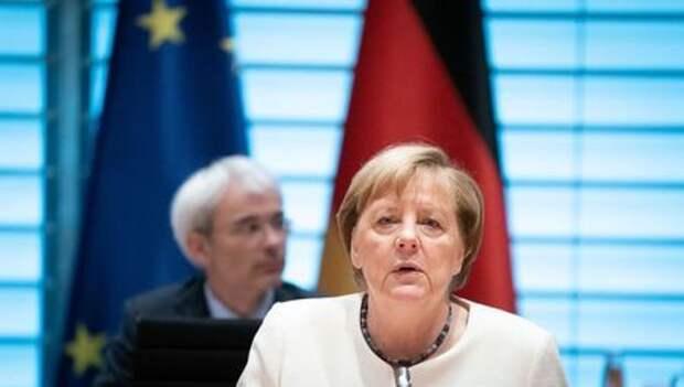 Канцлер Германии Ангела Меркель на еженедельном заседании правительства. Берлин, Германия. 23 сентября 2020 года. Kay Nietfeld/Pool via REUTERS