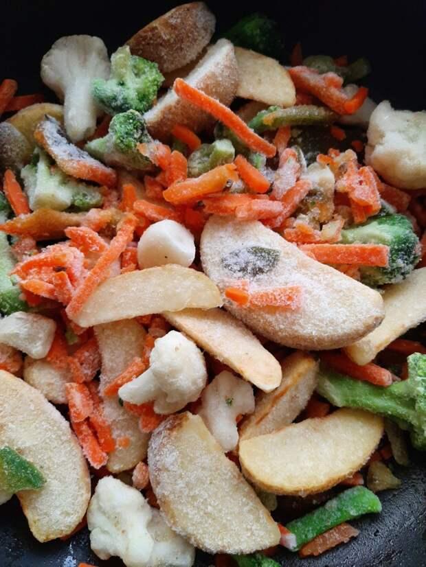 Простой способ превратить замороженные овощи в произведение искусства