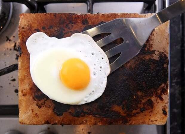 Соляной камень, как альтернатива сковороде (7 фото)