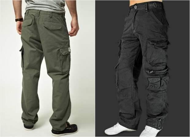Штаны с боковыми карманами.
