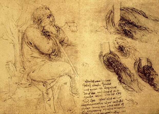 Рисунки Леонардо да Винчи.