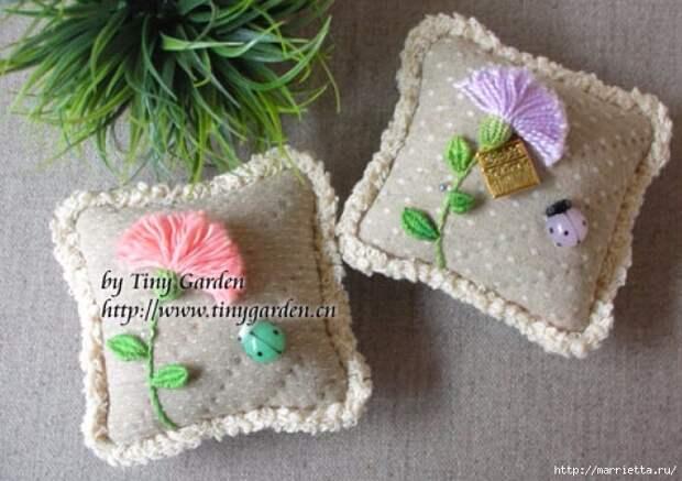 Цветы объемной вышивкой гладью. Красивые работы (8) (671x473, 212Kb)