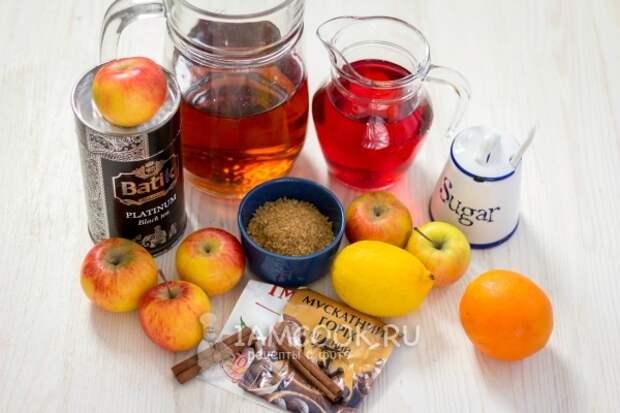 Ингредиенты для рождественского безалкогольного пунша