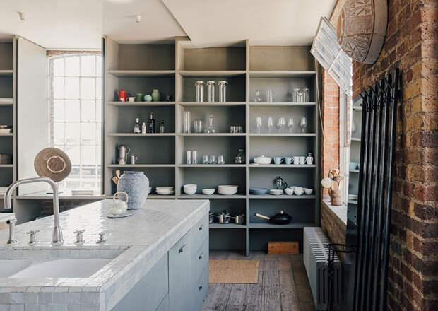 Стильный лофт с гамаком в Лондоне