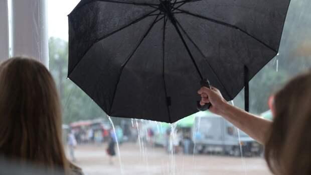 Москвичам пообещали теплое и дождливое воскресенье