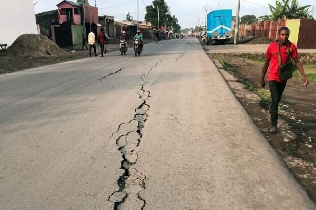 В Конго зафиксировали свыше 60 землетрясений из-за вулканической активности