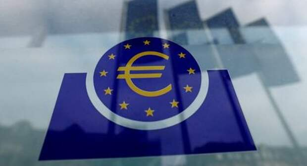 FILE PHOTO: The European Central Bank (ECB) logo in Frankfurt, Germany, January 23, 2020. REUTERS/Ralph Orlowski/File Photo