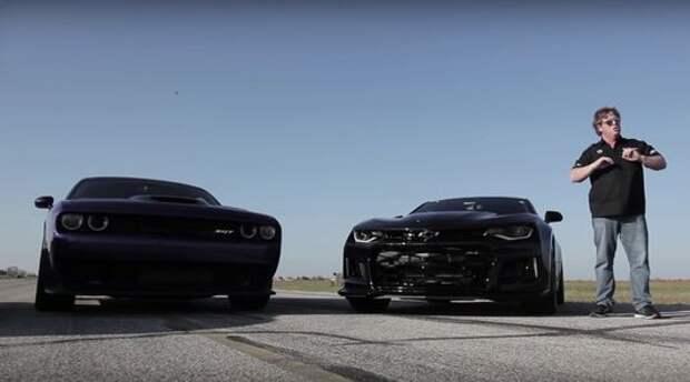 Ответ на главный вопрос: Chevrolet Camaro ZL1 и Dodge Hellcat выяснили отношения