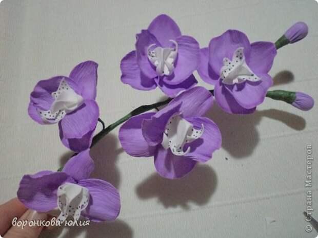 здравствуйте дорогие мастерицы.вот решила с вами поделиться тем , как я делаю цветок орхидеи. фото 1