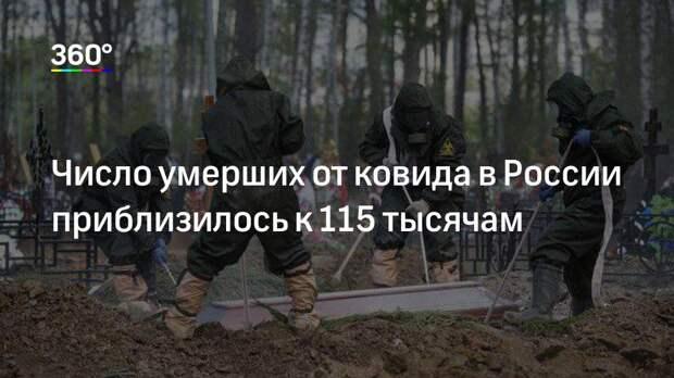 Число умерших от ковида в России приблизилось к 115 тысячам