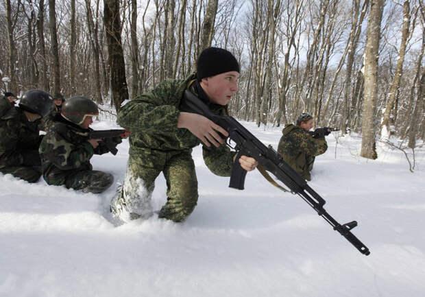 Военные учения в лесах Ставрополя