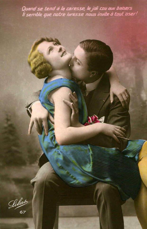 20 раскрашенных романтических ретро открыток из 1920-х