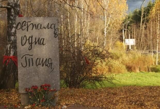 Дневник Тани Савичевой в камне рядом с памятником *Цветок жизни* под Санкт-Петербургом | Фото: st-roll.ru