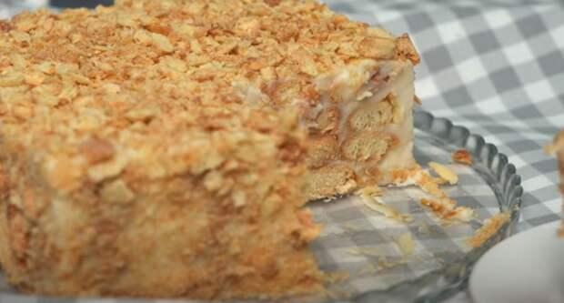 Торт «Наполеон» без выпечки за 15 минут. Самый легкий и быстрый рецепт