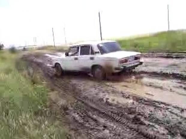 Рейтинг легковых Советских автомобилей по проходимости в деревенской грязи