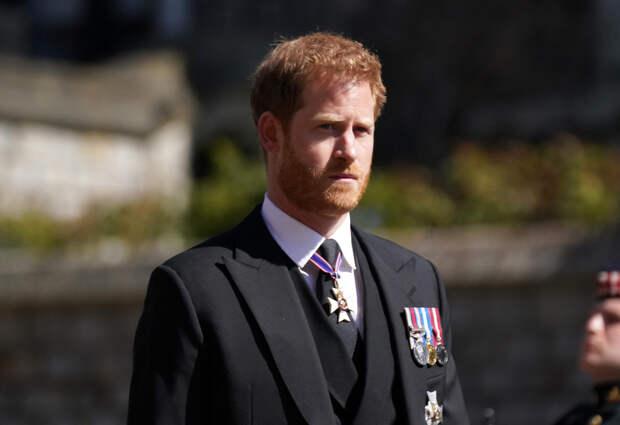 Принц Гарри на похоронах принца Филиппа, герцога Эдинбургского.