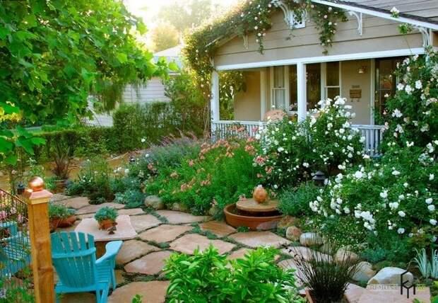 Идеи с красиво оформленными клумбами для небольших дачных участков