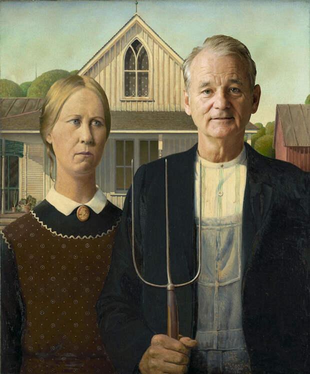 Лицо Билла Мюррея отлично вписывается в любую картину. Вот 8 доказательств