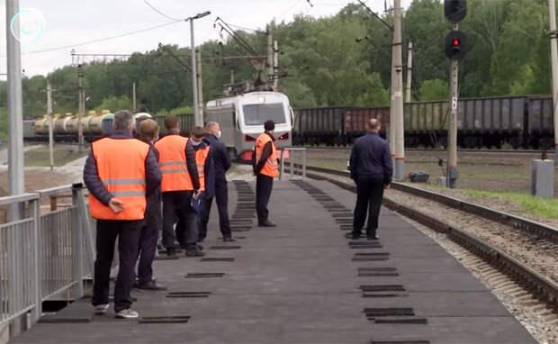 Первую остановку проекта «Городская электричка» построили в Новосибирске