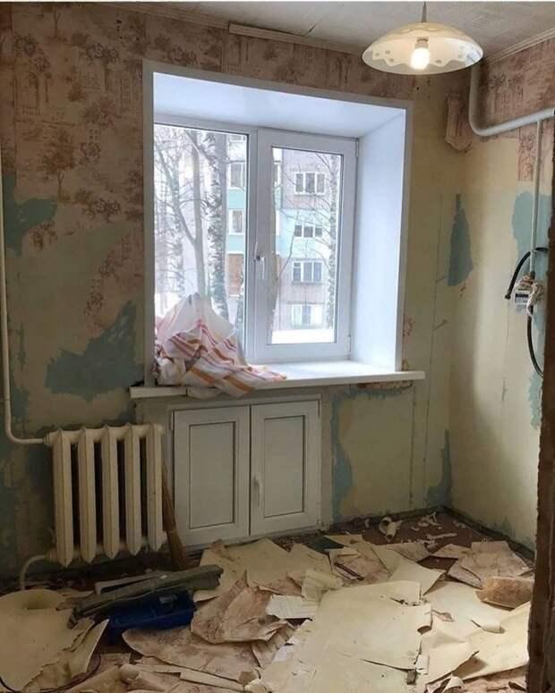 Переделка небольшой кухни в современную красавицу: до/после