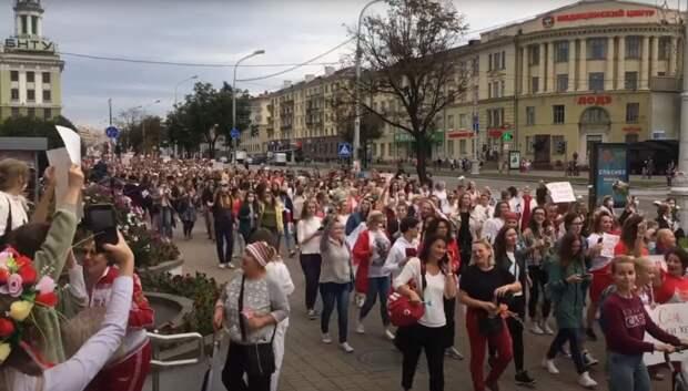 Женский протест в Белоруссии - какое удачное решение проблемы рождаемости в стране. Хорошая инициатива