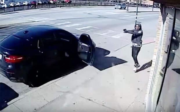 Попытка угона BMW провалилась. Владельцем оказался полицейский!