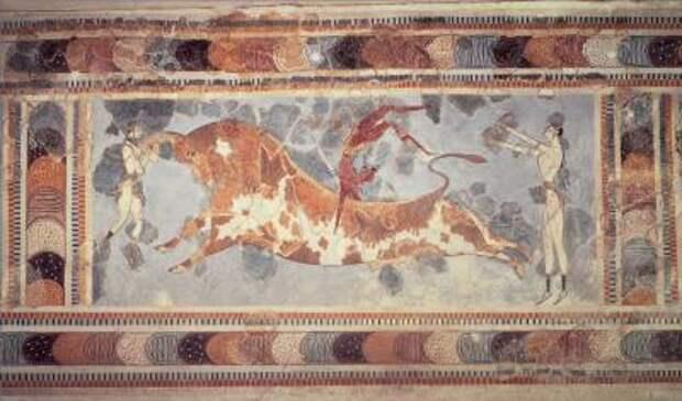 Минойская цивилизация - культура, архитектура, искусство - Кносский бык