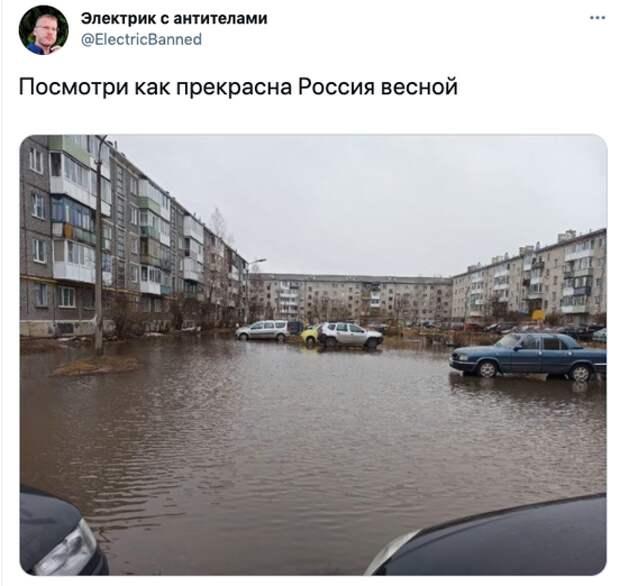 Возможно, это изображение (на открытом воздухе и текст «электрик сантителами @ElectricBanned посмотри как прекрасна россия весной»)