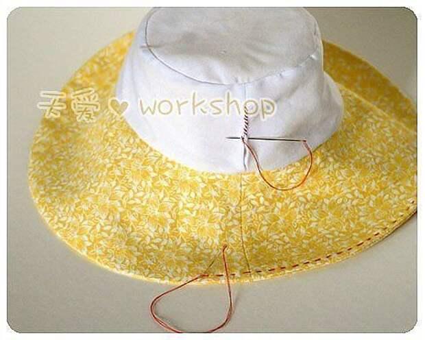 Шляпа-панама на лето! МК.