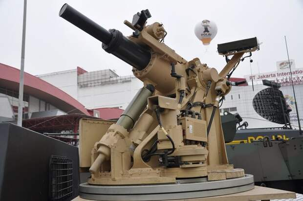 самоходный миномет komodo, indo defense 2018, бронетехника