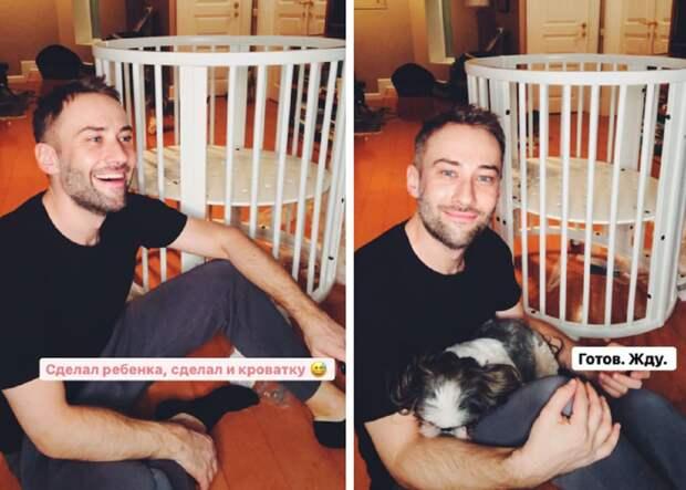 Дмитрий Шепелев показал детскую кроватку, собранную своими руками
