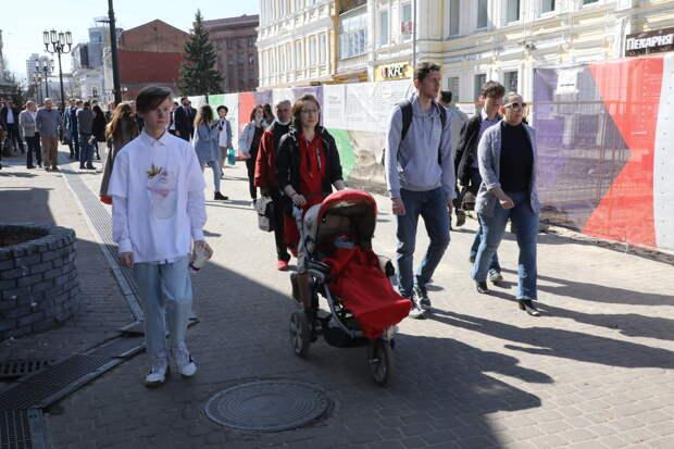 Нижегородцам показали, как можно обойти перекрытые для благоустройства территории в центре города