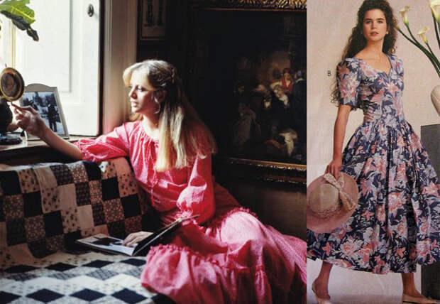 Платья от Лоры Эшли повлияли на создание стиля хиппи.