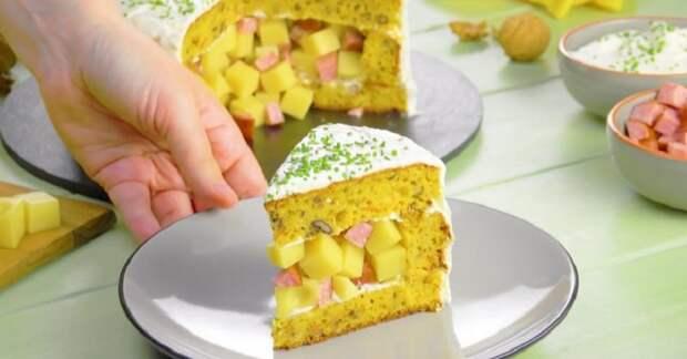 Оригинальный пирог из тыквенного теста с сырной начинкой: вкусный и сытный
