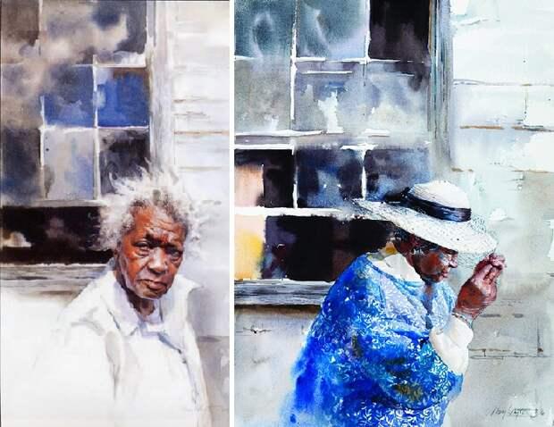 Hurricane Warning. (Ураганное предупреждение)./ Veil. (Вуаль). Автор: Mary Whyte. | Фото: obiskusstve.com.