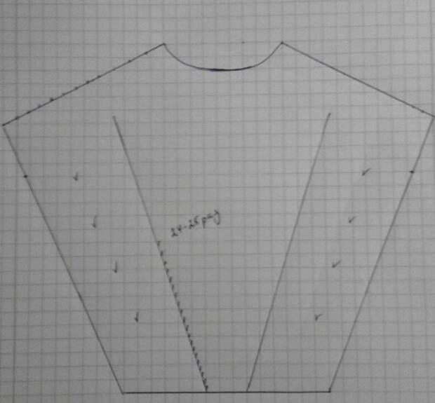 Стильное осеннее платье жилет (мастер-класс)