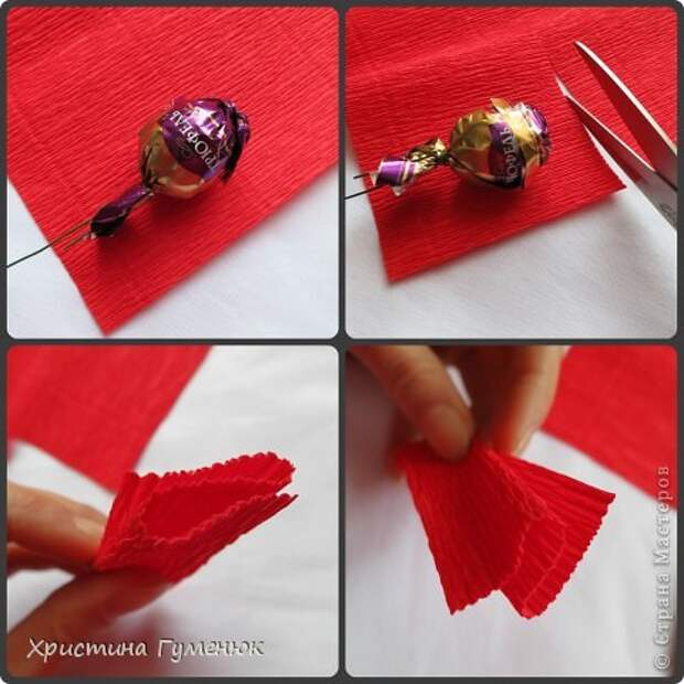 Мастер-класс Свит-дизайн Бумагопластика Цветы  как я их делаю  Бумага гофрированная фото 3